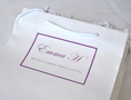 Photo of small white carrier bag