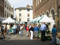 Farmers' Market in Hertford's Market Place